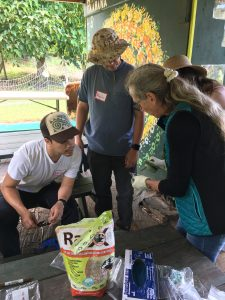 Kay Howe from Daniel K. Inouye College of Pharmacy instructing teachers on slug identification during a teacher professional development session held at Waimea Middle School in November 2018