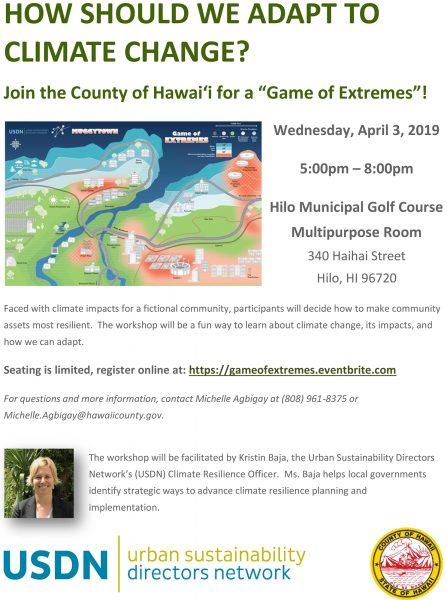 Game of Extremes Workshop Flyer