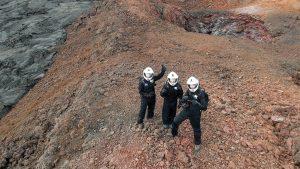 Crew on extravehicular activity (EVA) Photo Courtesy of Sebastian Mulder