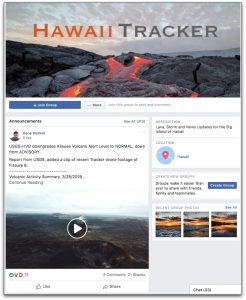 Hawaii Tracker Facebook page