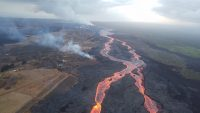 Kilauea's Lower East Rift Zone Fissure 8 vent and lava flow on July 13, 2018.