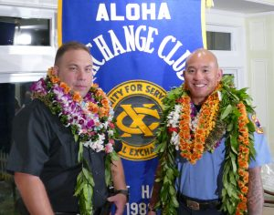 """""""Officer of the Year"""" Daniel Tam (L) """"Firefighter of the Year"""" Chas Taketa (R)"""
