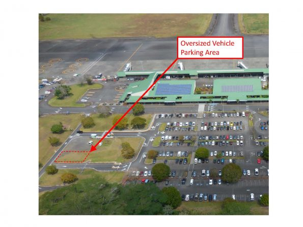 Oversized vehicle parking at Hilo International Airport
