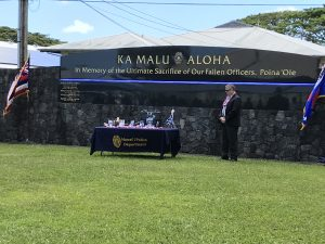 Hawaii Police Department Memorial-Wall
