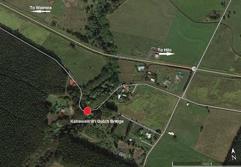 Kahawaili'ili'i Gulch Bridge map