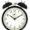 Black wind-up clock