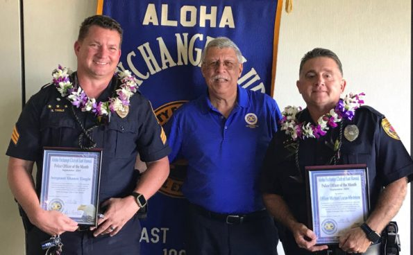 """""""Officer's of the Month"""" of October Sergeant Shawn Tingle (L) Officer Michael Lucas-Medeiros (R)"""